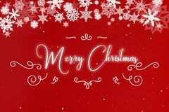С Рождеством Христовым на поздравительной открытке Стоковая Фотография RF