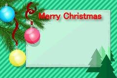 С Рождеством Христовым поздравительная открытка в ретро стиле для поздравлений иллюстрация вектора
