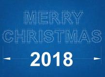 С Рождеством Христовым светокопия Стоковая Фотография RF