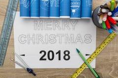С Рождеством Христовым светокопия Стоковое Фото