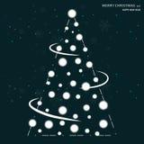 С Рождеством Христовым сезонное знамя Минимальный плоский дизайн иллюстрация штока
