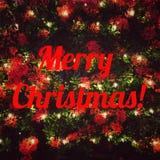 С Рождеством Христовым слово Стоковые Фото