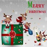 С Рождеством Христовым! Счастливый Новый Год Стоковые Изображения
