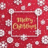 С Рождеством Христовым чешет с снежинками Стоковое Изображение