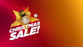 С Рождеством Христовым шаблон дизайна продажи стоковые изображения rf