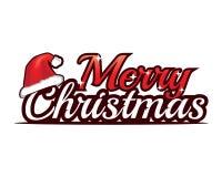 С Рождеством Христовым с с шляпой стоковое изображение rf