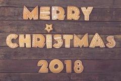 С Рождеством Христовым 2018 Стоковая Фотография RF