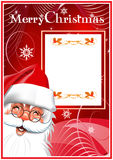 С Рождеством Христовым. Santa Claus. Красная предпосылка Стоковое фото RF