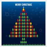 С Рождеством Христовым абстрактная картина треугольника. Предпосылка, крышка, Стоковые Фотографии RF