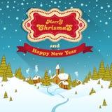 С Рождеством Христовым ландшафт Стоковая Фотография RF