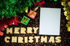 С Рождеством Христовым алфавита сделанное от печений хлеба Стоковая Фотография