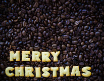 С Рождеством Христовым алфавита сделанное от печений хлеба Стоковые Фотографии RF