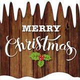 С Рождеством Христовым блестящий дизайн литерности также вектор иллюстрации притяжки corel Стоковое Изображение
