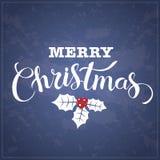 С Рождеством Христовым блестящий дизайн литерности также вектор иллюстрации притяжки corel Стоковая Фотография