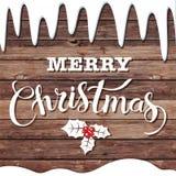 С Рождеством Христовым блестящий дизайн литерности Стоковые Изображения RF