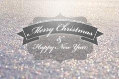 С Рождеством Христовым винтажное оформление Стоковое Изображение