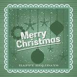 С Рождеством Христовым винтажный дизайн Стоковые Изображения