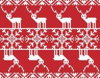 С Рождеством Христовым вышивка Стоковая Фотография