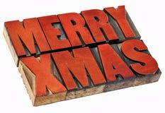 С Рождеством Христовым в деревянном типе Стоковое Фото