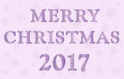 С Рождеством Христовым в розовых цветах Иллюстрация штока