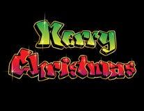 С Рождеством Христовым граффити Стоковые Изображения RF