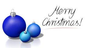 ` С Рождеством Христовым! желания ` - 3D перевод одушевленности 3D иллюстрация вектора