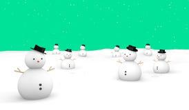 С Рождеством Христовым земля зеленого цвета снега Стоковое Изображение