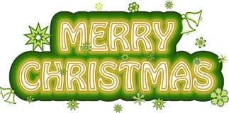 С Рождеством Христовым знак бесплатная иллюстрация