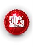 С Рождеством Христовым знамя продажи или скидки Стоковые Изображения