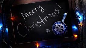 С Рождеством Христовым знамя с светами акции видеоматериалы