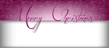 С Рождеством Христовым знамя с снегом и прямоугольник для текста Стоковая Фотография RF