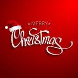 С Рождеством Христовым дизайн литерности Бесплатная Иллюстрация