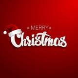С Рождеством Христовым дизайн литерности Иллюстрация вектора