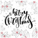 С Рождеством Христовым дизайн литерности Стоковое Изображение RF