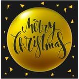 С Рождеством Христовым дизайн литерности Стоковая Фотография