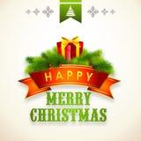 С Рождеством Христовым дизайн плаката или знамени торжеств Стоковая Фотография RF