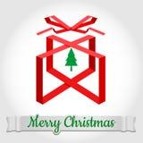 С Рождеством Христовым дизайн символа с текстом Стоковая Фотография
