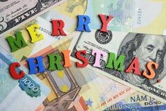 С Рождеством Христовым и деньг Стоковая Фотография