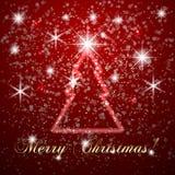 С Рождеством Христовым или Новый Год вектора абстрактное Стоковые Изображения
