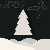 С Рождеством Христовым и снег Стоковое Изображение RF