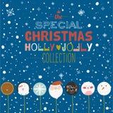 С Рождеством Христовым и счастливая карточка Нового Года с конфетой приветствию Стоковое Изображение