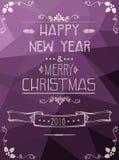 С Рождеством Христовым и счастливая карточка Нового Года Стоковая Фотография RF