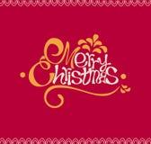 С Рождеством Христовым и счастливая карточка Нового Года Стоковые Изображения RF