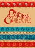 С Рождеством Христовым и счастливая карточка Нового Года Стоковая Фотография