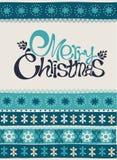 С Рождеством Христовым и счастливая карточка Нового Года Стоковые Фото
