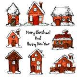 С Рождеством Христовым и счастливый Новый Год, рождество Иллюстрация вектора
