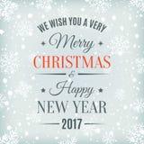 С Рождеством Христовым и счастливый Новый Год 2017 Стоковые Фотографии RF