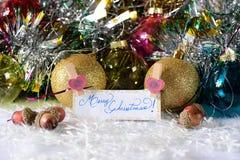 С Рождеством Христовым и с новым годом Стоковое фото RF