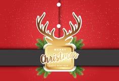 С Рождеством Христовым иллюстрация вектора предпосылки Санта Клауса Стоковое Изображение