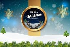 С Рождеством Христовым иллюстрация вектора предпосылки Стоковые Фотографии RF